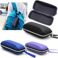 Travel Protable Rectangle Zipper Sunglasses Hard Eye Glasses Case Protector Box