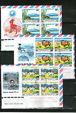 Ungeprüfte Briefmarken aus Asien mit Mischfrankatur-Erhaltungszustand