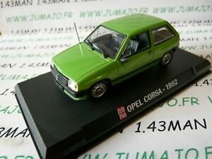 AP34 Voiture 1/43 IXO AUTO PLUS : OPEL corsa A 1982 verte