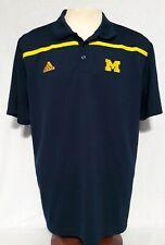 ADIDAS NCAA Michigan Wolverines Football Baseball Softball Hockey Polo Sz XL
