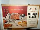 Rival Model 1101E/3 Chrome Electric Meat - Food Slicer - In Box With Manual