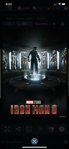 Topps Marvel Collect - 2019 Super Rare Iron Man Poster Low cc Digital*