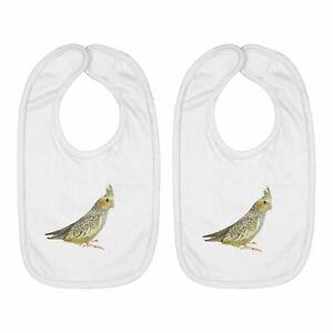 Cute Cockatiel Bird 2-Piece Infant Baby Bib Cotton Hook & Loop Baby Shower Gift