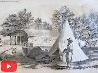 Peru South America 1854 Lot old prints x 14 lithographed views Duval