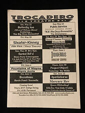 CONCERT FLYER/HANDBILL-SLEATER KINNEY-PAVEMENT-FOUNTAINS OF WAYNE-THE TOASTERS
