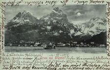 9284/ Foto AK, Mondscheinkarte, Gruss aus Brunnen, 1898