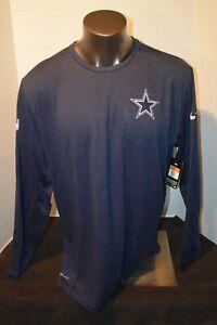 Dallas Cowboys on-Field Men's Navy Longsleeve Nike Dri-Fit T-Shirt Size 2XL NWT