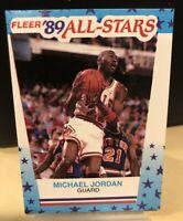 Fleer 1989 Michael Jordan Sticker '89 All-Stars #3 SP Insert SP Sharp HOF 89 PSA