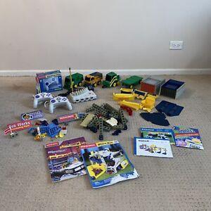 Rokenbok System Toy HUGE Lot Construction Figures, Balls, Trucks, Etc TESTED