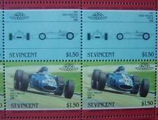 1967 EAGLE WESLAKE TYPE 58 Car 50-Stamp Sheet / Auto 100 Leaders of the World