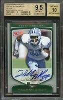2009 bowman draft rookie autographs silver #210 HAKEEM NICKS rookie BGS 9.5 10