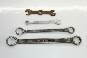 4x Vintage Assorted Spanners, open, ring, Stahlwille Stabil