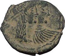 King Rabbel II Arab Caravan Kingdom of Nabataea 75AD Greek Type Coin i50401