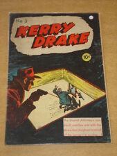 KERRY DRAKE DETECTIVE CASES #3 VG+ (4.5) HARVEY COMICS 1944