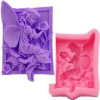 Fairy Flower Silicone Pudding Jelly Soap Mold Fondant Cake Decor Baking Mould CF