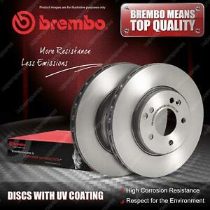 2x Rear Brembo UV Coated Disc Rotors for Land Rover Freelander L359 2.2 to CH999