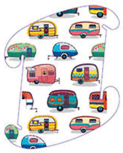 """Vintage Campers MED 13""""/33cm 30 Pcs Puzzle Light Jigsaw LuvaLamps Infinity USA"""