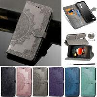 Mandala Wallet Leather Flip Case Cover For LG Q60 K50 K40 K30 K20 G7 G8 W10 W30