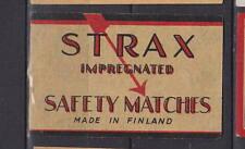 Ancienne étiquette Allumettes Finlande  BB99  Strax