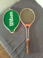 VTG 1970's WILSON JIMMY CONNORS RALLY TENNIS RACQUET L 4 1/2 With Case