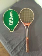New listing VTG 1970's WILSON JIMMY CONNORS RALLY TENNIS RACQUET L 4 1/2 With Case