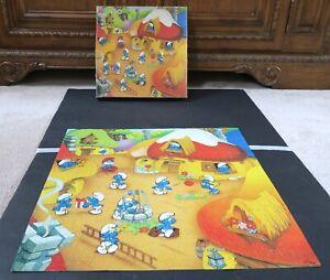 1983 Vintage Smurfs Puzzle Milton Bradley 450 pc 100% Complete 4371-2 Peyo HTF