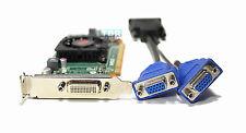 Dual VGA Monitors Support Video Card OptiPlex Vostro Inspiron Compaq Low Profile