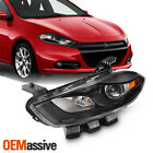 Fit 2013-2016 Dodge Dart Halogen Black Projector Headlight Driver Replacement  for sale