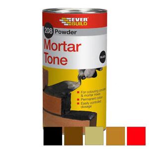 Everbuild 208 BLACK Cement Dye   Mortar Tone 1KG Cement Colour   VAT RECEIPT