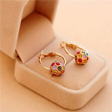 Wholesale Womens Elegant Multi Crystal Rhinestone Ear Stud Hoop Earring Jewelry
