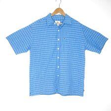 Colorado Mens Blue Plaid Check Button Up Shirt Size Medium