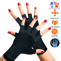 Copper Compression Gloves Carpal Tunnel Wrist Brace Arthritis Joint Pain Relief