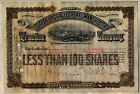 Pittsburgh Allegheny & Manchester Traction Company Stock Certificate Railroad