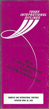 Texas International Airlines system timetable 4/26/70 [8081]