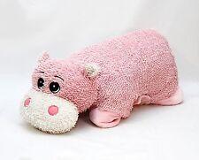 """18"""" Pink Stuffed Plush Pillow Hippo"""
