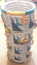 Vietri Pottery-20,1/2In. Tall Vase Sand Finish.Made/Painted by hand in Italy