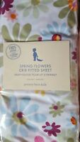 Pretty New Pottery Barn Kids Spring Flowers Crib SHEET toddler bed  hard to find
