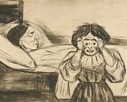 Print -The Dead Mother and Her Child (1901) by Edvard Munch.