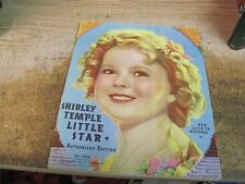SHIRLEY TEMPLE THE REAL LITTLE STAR HER LIFE IN PICTURES 1762 SAALFIELD PUB 1936