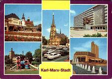 Karl-Marx-Stadt Chemnitz Sachsen DDR Mehrbild-AK ua. Theater-Platz, Stadthalle
