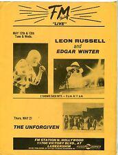 Vintage Concert Flyer: Leon Russell, Edgar Winter, The Unforgiven