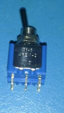 DPDT toggle switch, long actuator, complete with 2 nuts and washer. 5 pieces.