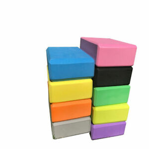 Yoga Fitness Block Foam Brick Sports Pilates Tool Gym Workout Stretching
