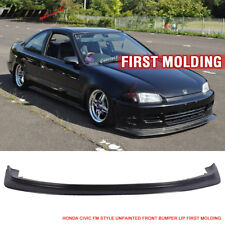 Fit For 92-95 Honda Civic JDM First DP Style Front Bumper Lip Chin FM Molding