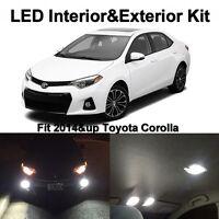 10 x White LED Interior Fog Reverse Tag Lights Bulbs For 2014 2015 2016 Corolla