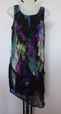 HOT OPTIONS Size 8 Little Black Poly Organza Dress - Asymmetric Hem