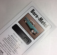 Bare Metal Foil 6 x 11 Thin Sheet Black Chrome (1) BMF007