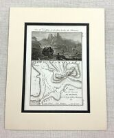 1821 Antique Map of Ancient Greece Parnassus Mountain Greek Landscape Print