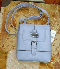 9 Nine West Periwinkle blue purple Leather like Handbag SwingPack cross body NWT