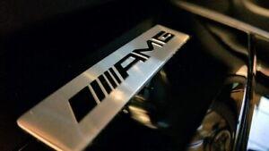 Mercedes AMG Chrome Silver AMG Badge Emblem Sticker For Mercedes Affalterbach